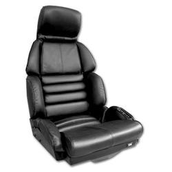 Corvette Driver Leather Seat Covers. Black Sport: 1989-1990
