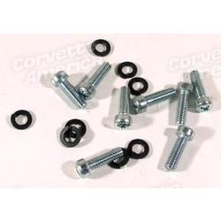 Corvette Seat Track Screws & Lockwashers. 16 Piece Set: 1967