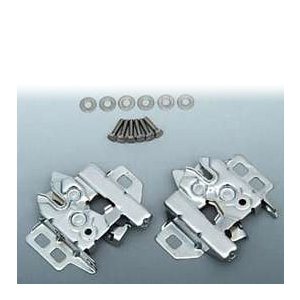 Corvette Chrome Hood Latch Set : 1997-2013 C5, C6, Z06, Grand Sport & ZR1